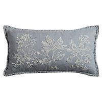 Rizzy Home Flora Embroidered Applique Corded Oblong Throw Pillow