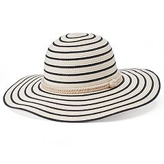 Women's Chaps Striped Floppy Hat with Sailor Knot