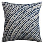 Rizzy Home Diagonal Stripes Jersey Throw Pillow