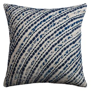 Rizzy Home Diagonal Stripes Jersey Throw Pillow