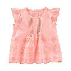 Baby Girl OshKosh B'gosh® Eyelet Flutter Tee