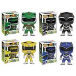 Funko Pop! Power Rangers: Green Ranger, Black Ranger, Yellow Ranger, Blue Ranger Collectors Set