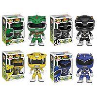 Funko Pop! Power Rangers: Green Ranger, Black Ranger, Yellow Ranger, Blue Ranger Collectors Set