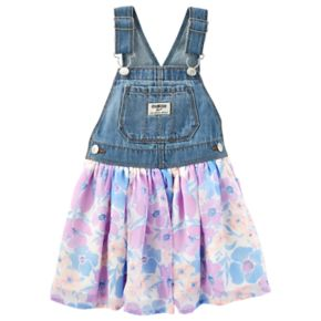 Baby Girl OshKosh B'gosh® Floral Denim Jumper