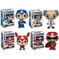 Funko Pop! Megaman: Megaman, Rush, Protoman, Dr. Wily Collectors Set