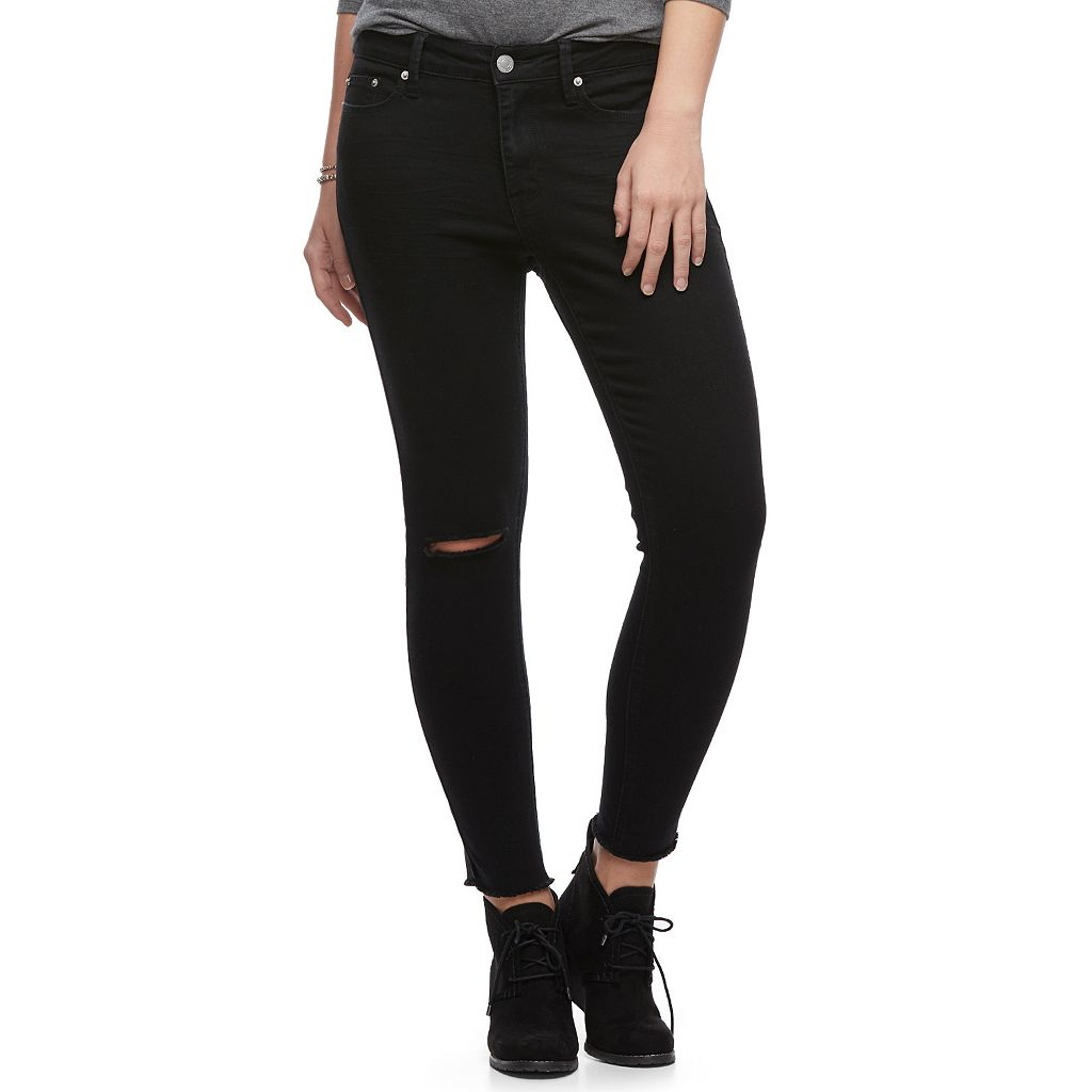 Juniors' Mudd® Destructed Skinny Ankle Jeans