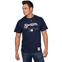 Men's Majestic Milwaukee Brewers Team Drive Tee