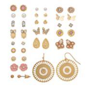 Mudd® Butterfly, Owl & Flower Earring Set
