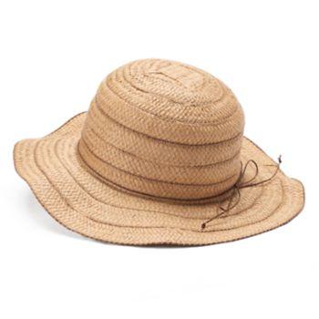 Women's Chaps Wavy Brim Striped Floppy Sun Hat
