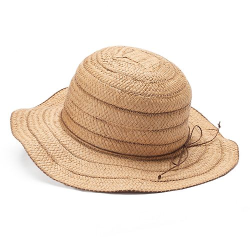 Women s Chaps Wavy Brim Striped Floppy Sun Hat ed9d54eab99