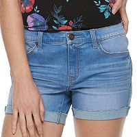 Juniors' Mudd® Cuffed Midi Jean Shorts