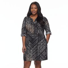 Plus Size Dana Buchman Roll-Tab Utility Shirt Dress