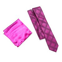 Men's Apt. 9® Patterned Skinny Tie & Solid Pocket Square Set