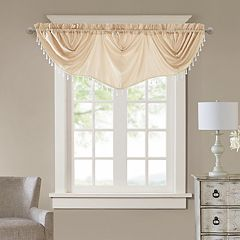 Madison Park Enise Faux Silk Imperial Window Valance