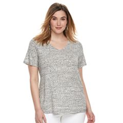 Plus Size Apt. 9® Essential V-Neck Tee