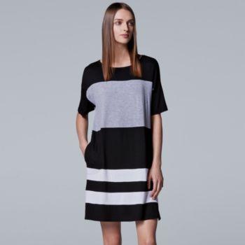 Women's Simply Vera Vera Wang Pajamas: Short Sleeve Sleepshirt