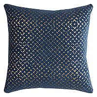 Rizzy Home Geometric Foil Printed Throw Pillow