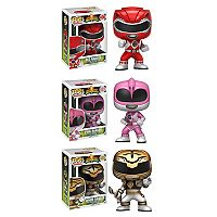 Funko Pop! Power Rangers Collectors Set: Red Ranger, Pink Ranger & White Ranger