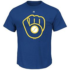 Men's Majestic Milwaukee Brewers Cooperstown Official Logo Tee