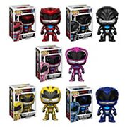 Funko Pop! Power Rangers: Red Ranger, Black Ranger, Blue Ranger, Pink Ranger & Yellow Ranger Collectors Set