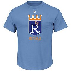 Men's Majestic Kansas City Royals Cooperstown Official Logo Tee