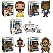 Funko Pop! Disney Belle, Beast, Lumiere, Cogsworth, Mrs. Potts & Chip Beauty and the Beast Collectors Set