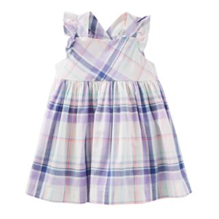 Baby Girl OshKosh B'gosh® Cross-Back Plaid Dress