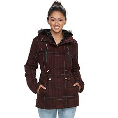 Juniors' Urban Republic Faux-Fur Hood Anorak Jacket