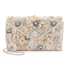 Lenore by La Regale Floral Sequin & Beaded Envelope Clutch