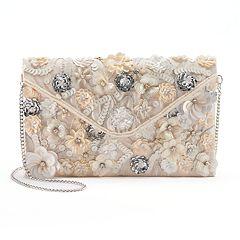 Lenore by La Regale Floral Sequin & Beaded Envelope Clutch