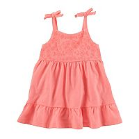 Baby Girl OshKosh B'gosh® Embroidered Ruffle-Hem Dress
