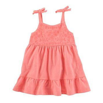 Baby Girl OshKosh B'gosh® Embroidered Ruffle-Hem Dress