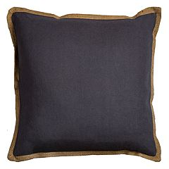 Rizzy Home Solid Jute Flange I Throw Pillow