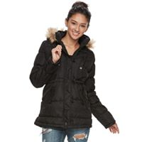 Juniors' Urban Republic Faux-Fur Hood Puffer Anorak Jacket