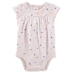 Baby Girl OshKosh B'gosh® Heart Jersey Bodysuit