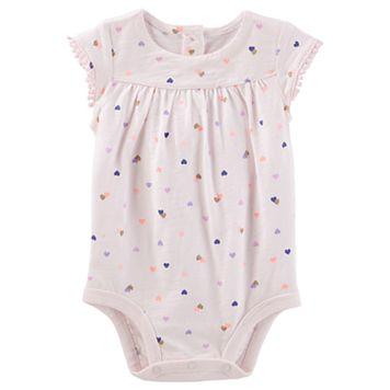 Baby Girl OshKosh B'gosh® Heart Jersey Bodysuit