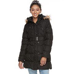 Juniors' Urban Republic Faux-Fur Hood Puffer Jacket