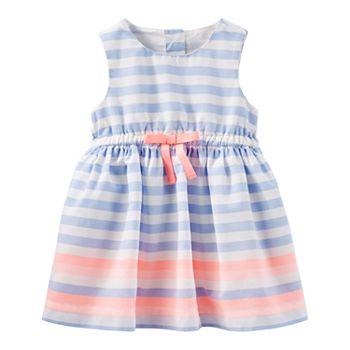 OshKoshBORDER PRINT DRESS - Day dress - light blue YtKj8cQ1pW