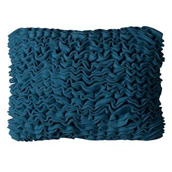Rizzy Home Solid Fleece Ruffled Oblong Throw Pillow