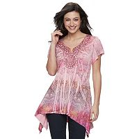 Women's Apt. 9® Crochet Medallion Top