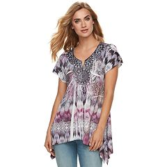 Women's World Unity Crochet Medallion Top