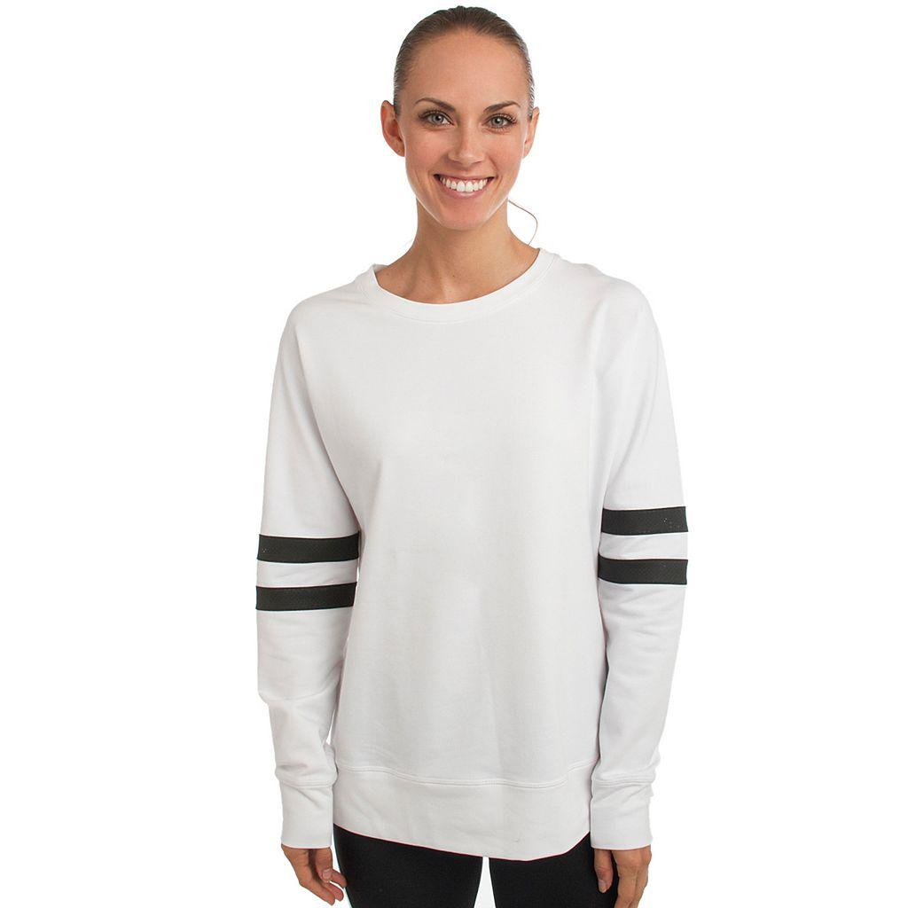 Women's Spalding Varsity Striped Basketball Sweatshirt