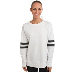 Women's Spalding Varsity Striped Basketball Sweatshirt
