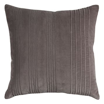 Rizzy Home Solid Textured Strips Throw Pillow