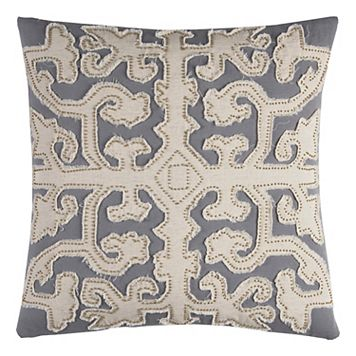 Rizzy Home Scrollwork Embroidered Throw Pillow