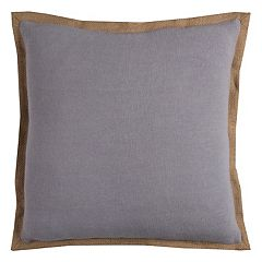Rizzy Home Solid Jute Flange II Throw Pillow