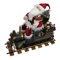 Northlight 22-in. Faux-Fur Santa & Train Figure Christmas Decor