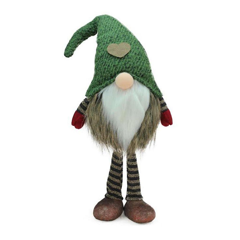 Northlight 19.5-in. Faux-Fur Santa Gnome Christmas Decor