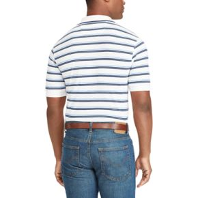 Big & Tall Chaps Classic-Fit Striped Mesh Polo
