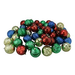 Northlight Shatterproof Ball Christmas Ornament 50-piece Set